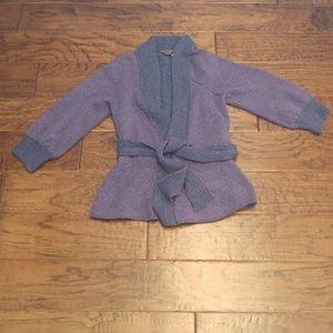 Armani Exchange Tie waist wool blend cardigan